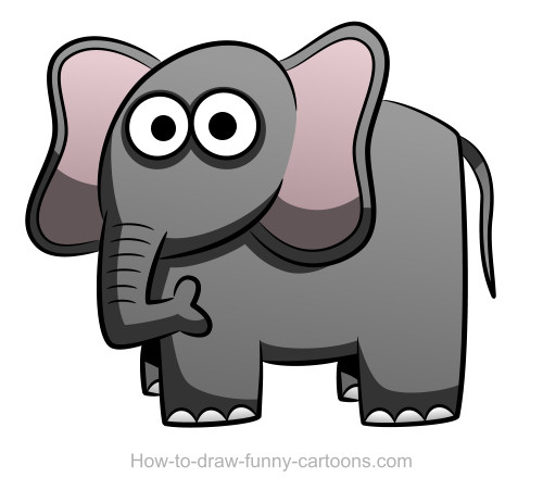Elephant Drawing (Sketching + Vector
