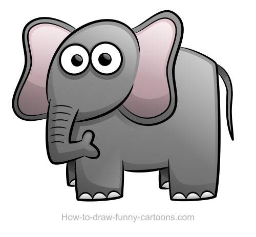 elephant drawing sketching vector rh how to draw funny cartoons com elephant with crown cartoon characters elephant cartoon characters pictures