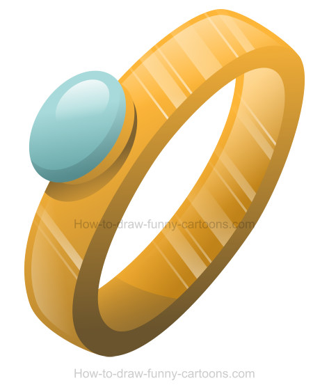 How to draw an engagement ring clip art