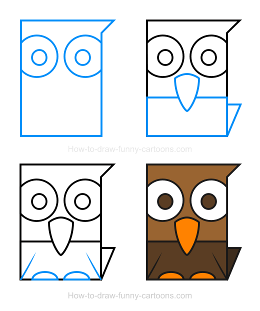 How to Draw a Falcon Clipart