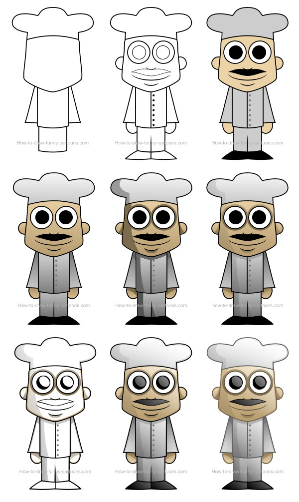 Figure drawing - Cartoon chef