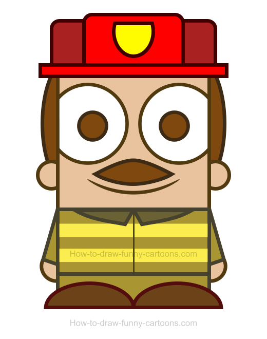 how to draw a firefighter clipart