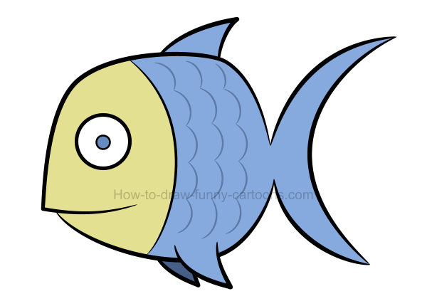 How to draw a fish clip art