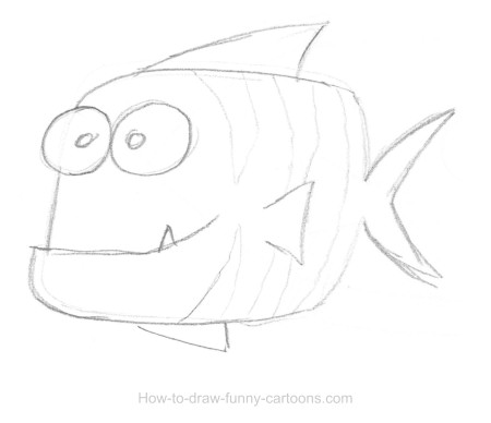 Fish Drawing Sketching Vector