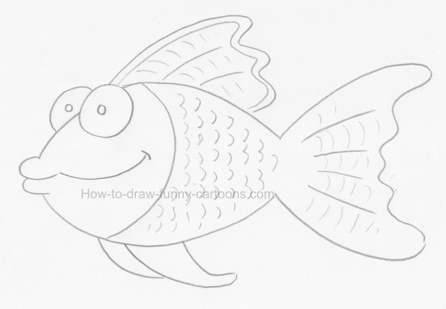 How to create cool fish drawings