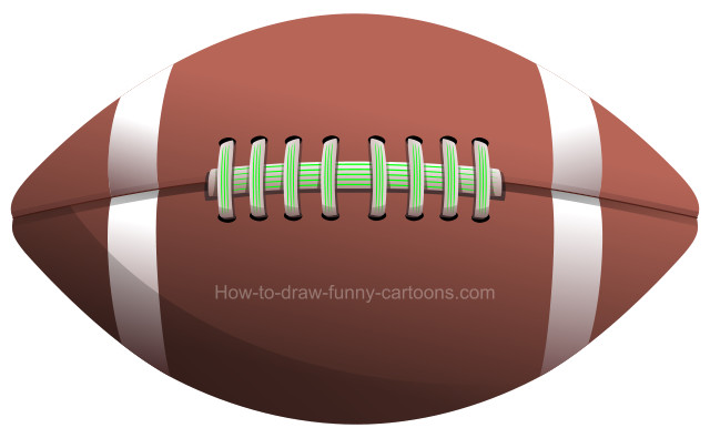 How to draw a football clip art