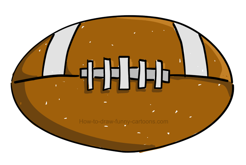 How To Draw A Football Clipart