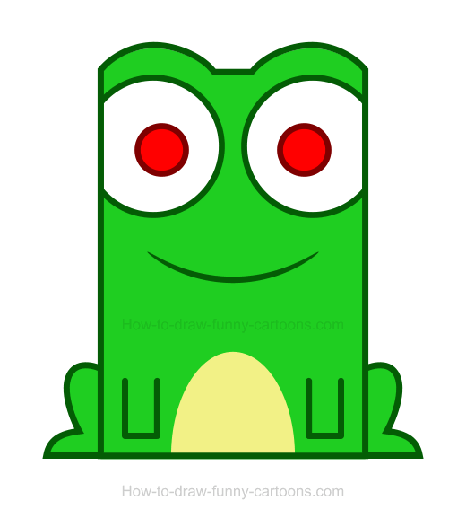 How to Draw a Frog Clipart