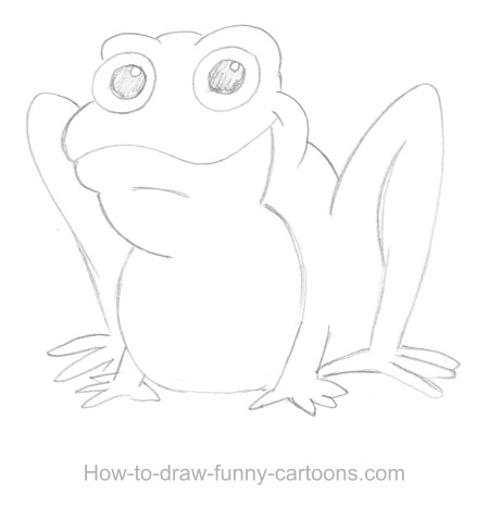 Frog Sketch Drawing Old Pencil And Sketch The