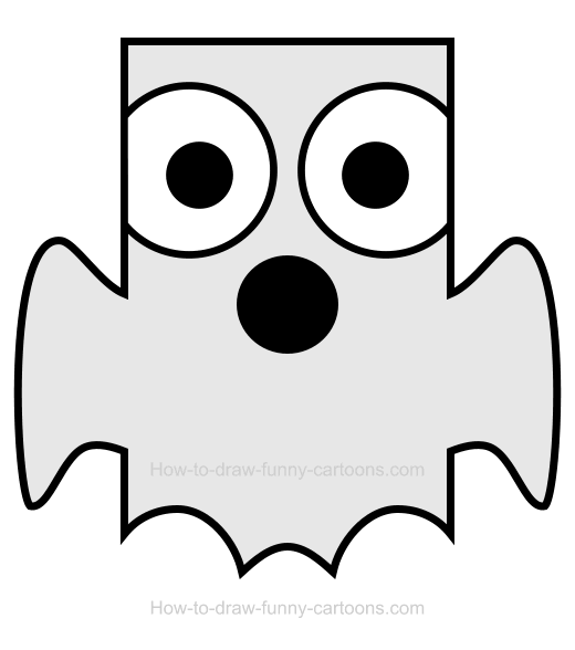 How To Draw A Ghost Clipart