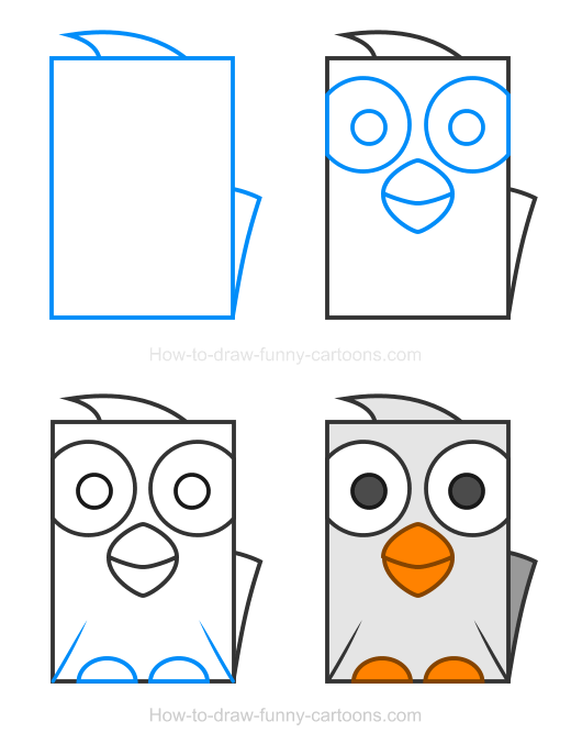 How to Draw a Goose Clipart