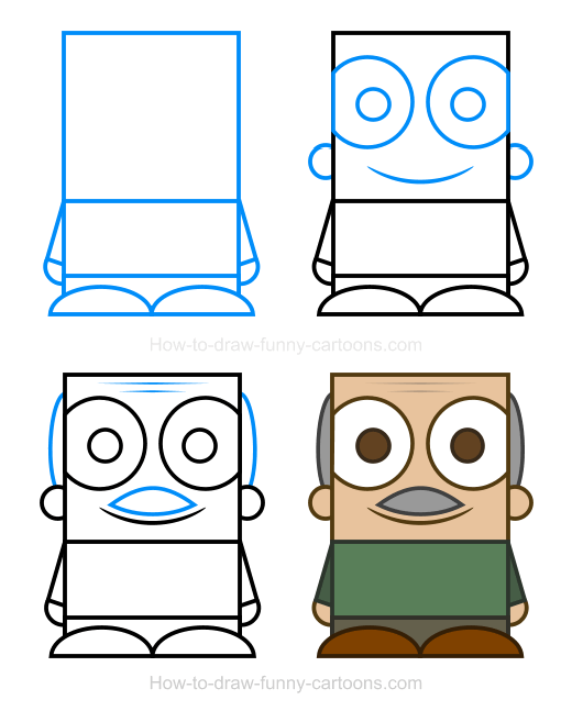 How To Draw A Grandpa Clipart