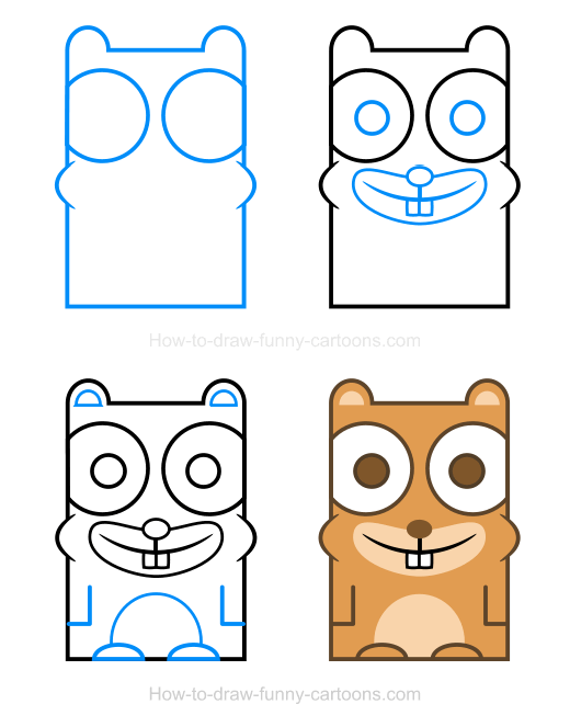 How to Draw A Hamster Clipart