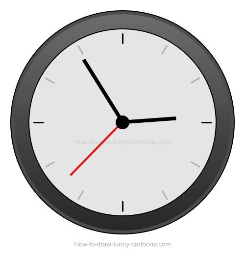 to draw a clock rh how to draw funny cartoons com Blank Clock Clip Art Digital Clock Numbers