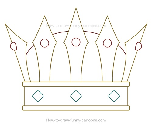 as you can see below you dont need to sketch something complex to create a fun cartoon crown something simple can be perfect