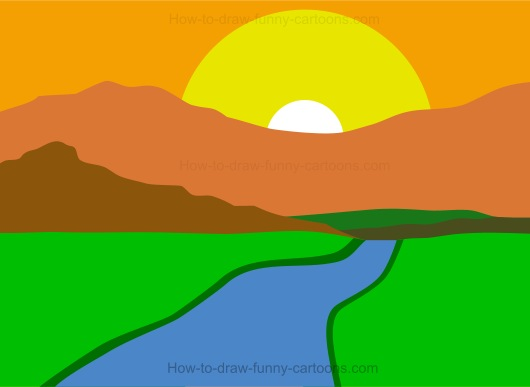 How to draw a landscape How to landscape