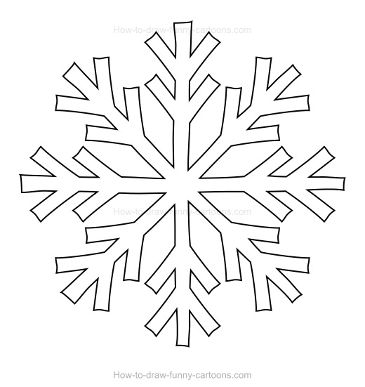 Simple Snowflake Line Art : How to draw a snowflake