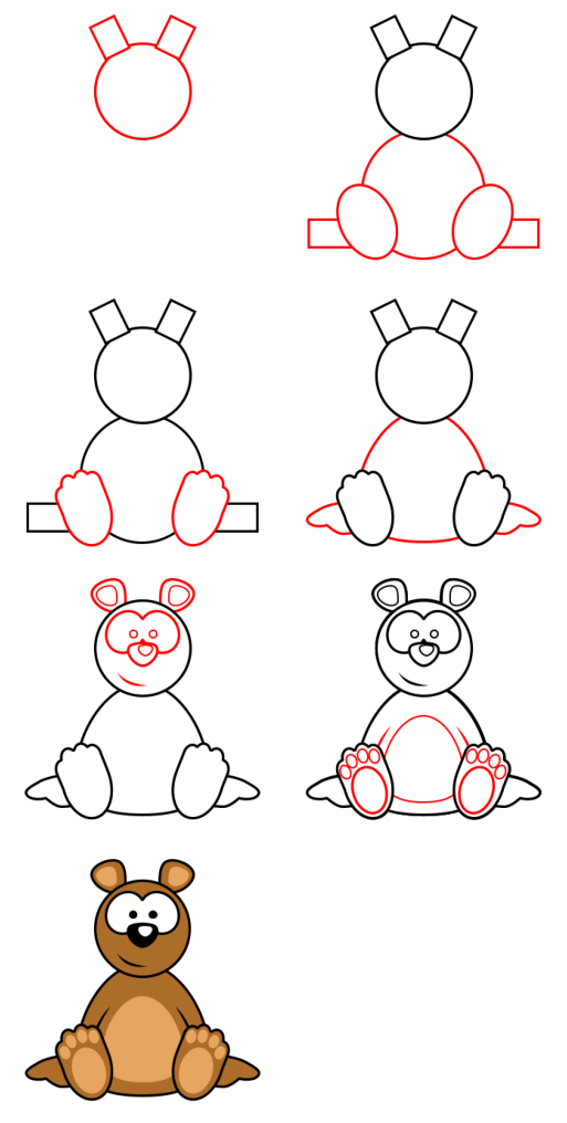 How to draw animals : Bear
