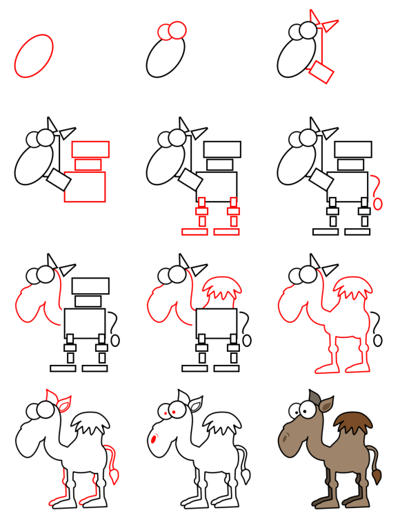 How to draw animals : Camel