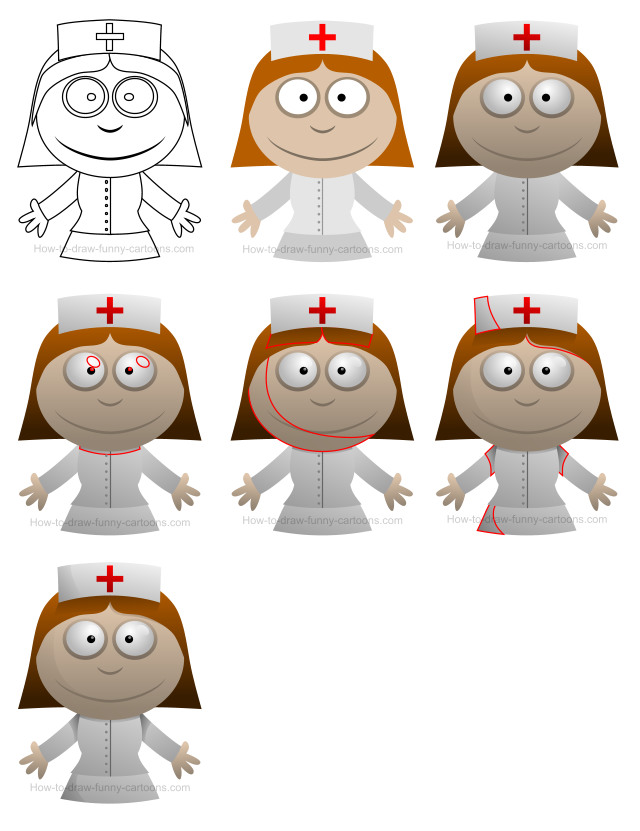 How to draw people - Nurse
