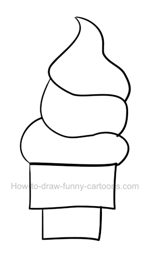 How to draw an ice cream clip art