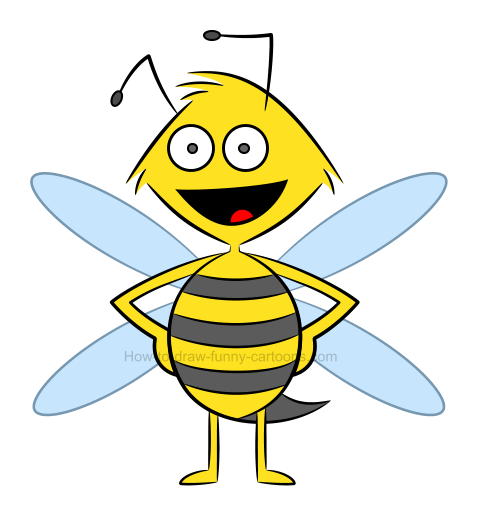 How to draw an illustration of a bee