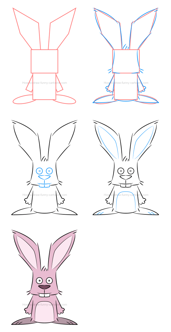 How to draw an illustration of a bunny