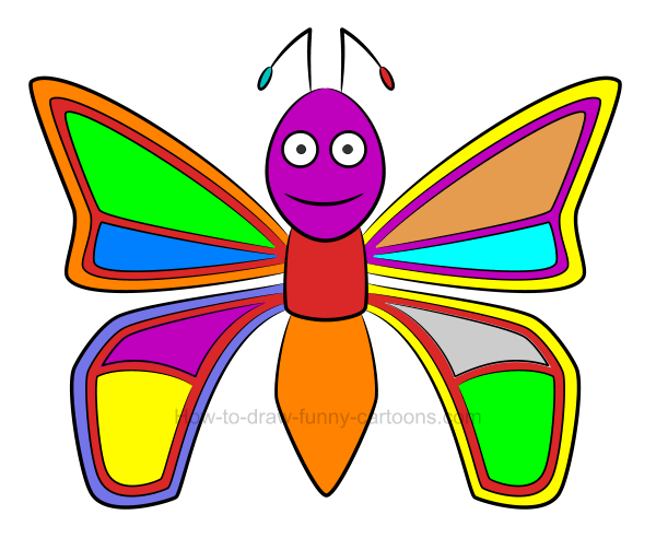 How to draw an illustration of a butterfly