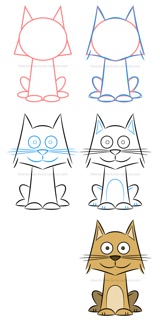 How to draw an illustration of a cat