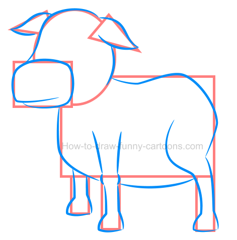 How to draw an illustration of a cow