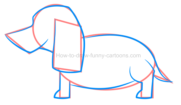 How to draw an illustration of a dachshund