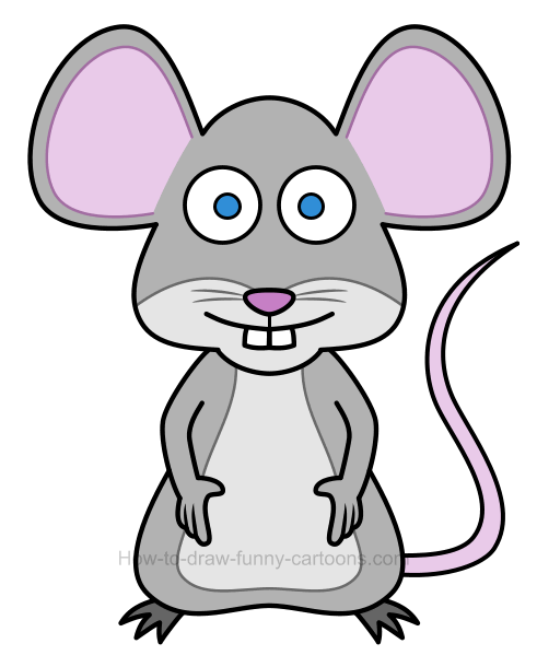 How to draw an illustration of a mouse for How to draw with a mouse