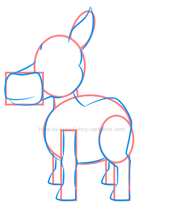 How to draw an illustration of a pony