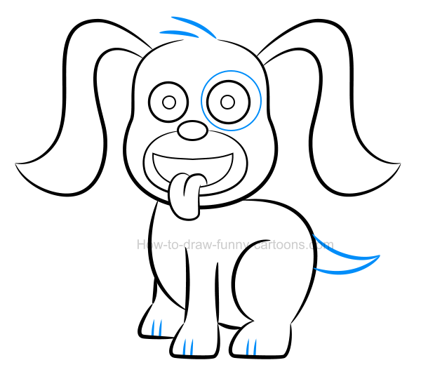 How to draw an illustration of a puppy
