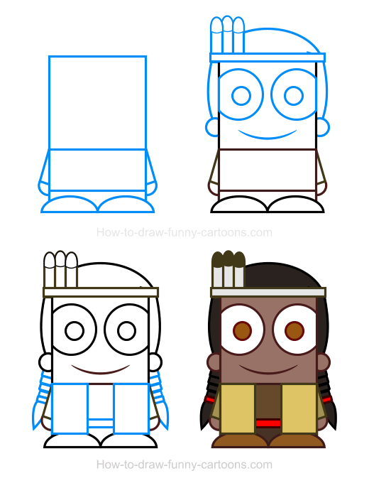 How To Draw An Indian Clipart