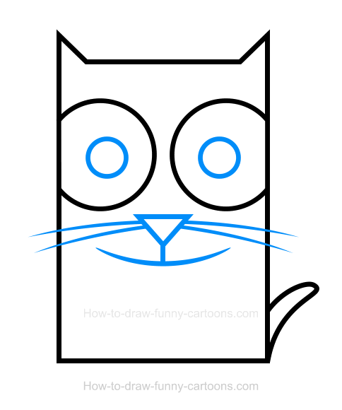 How to Draw a Kitten Clipart