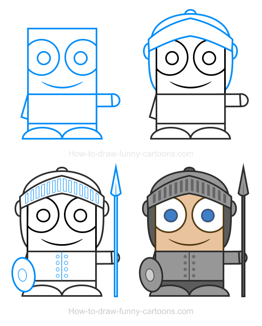 How to Draw a Knight Clipart