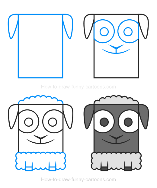 How to Draw a Lamb Clipart