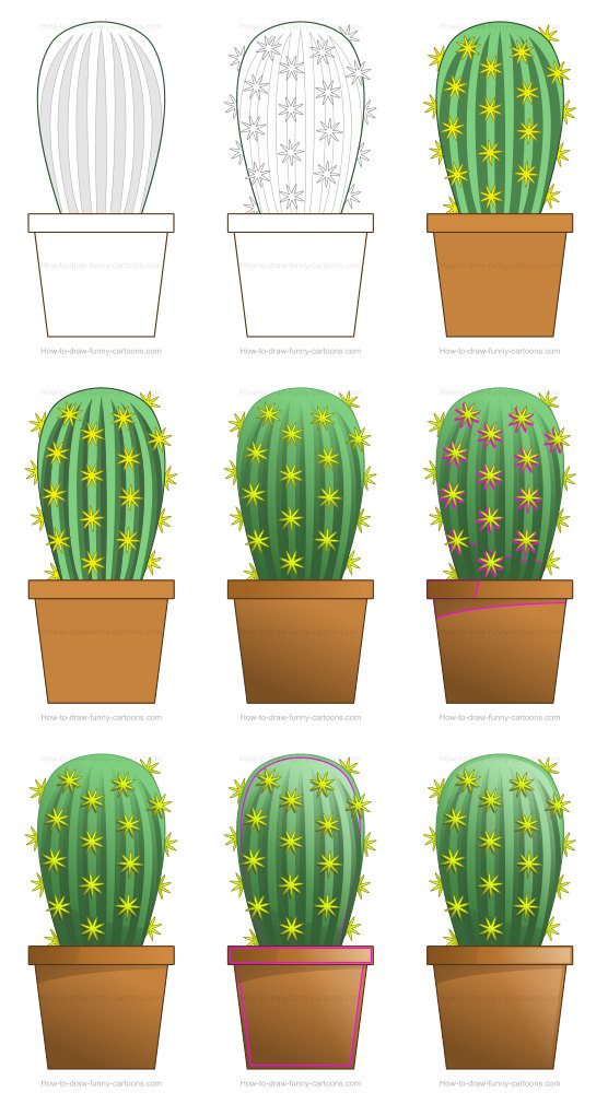 Learn how to draw misc images - cactus