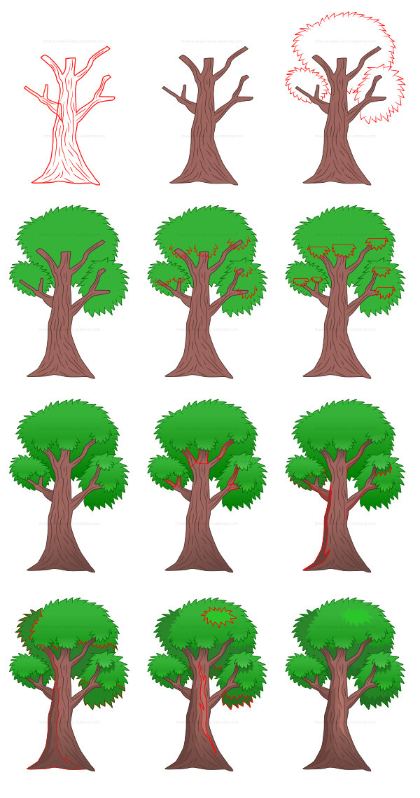 Learn how to draw misc images - trees