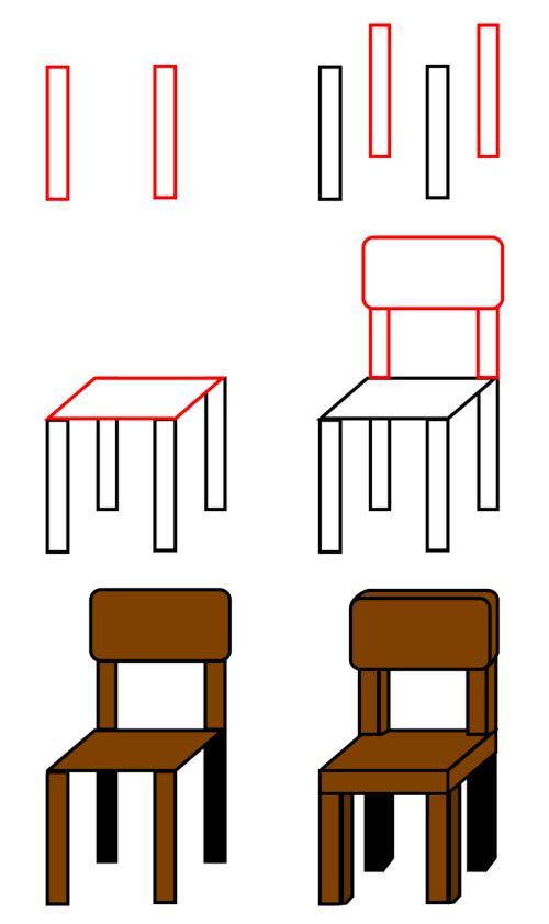 Learn to draw objects : chair