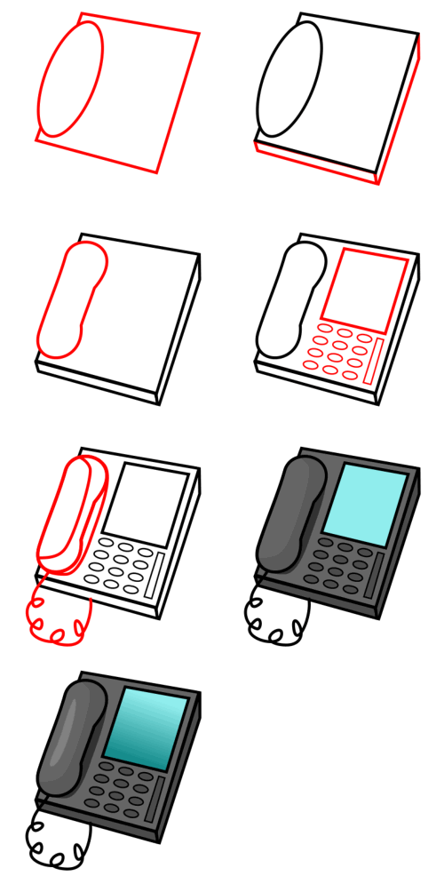 Learn to draw objects : phone