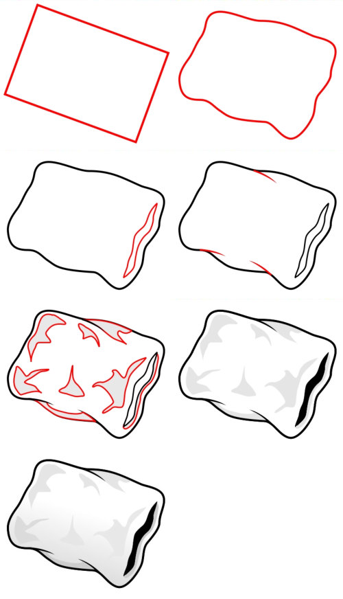 Learn to draw objects : pillow