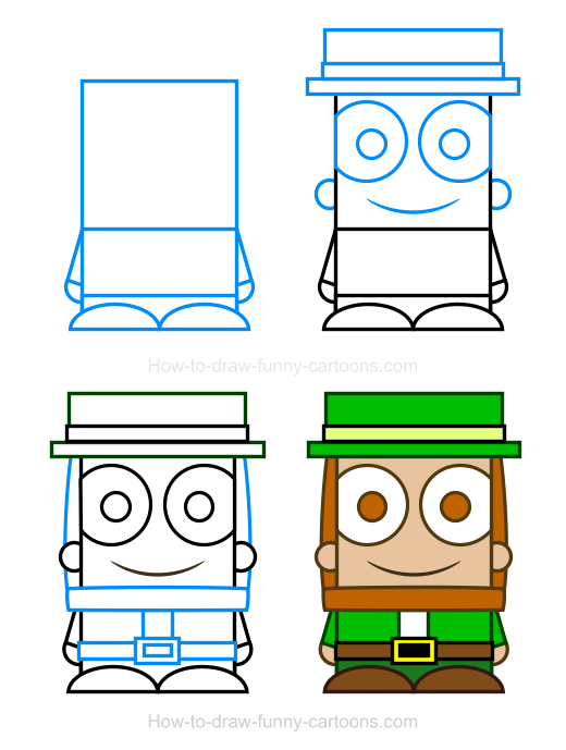 How To Draw A Leprechaun Clipart