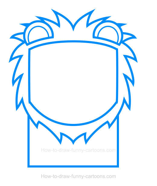 How to Draw a Lion Clipart