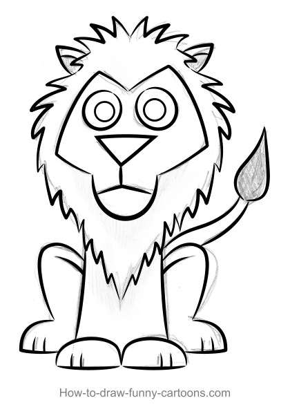 step 2 lion drawings