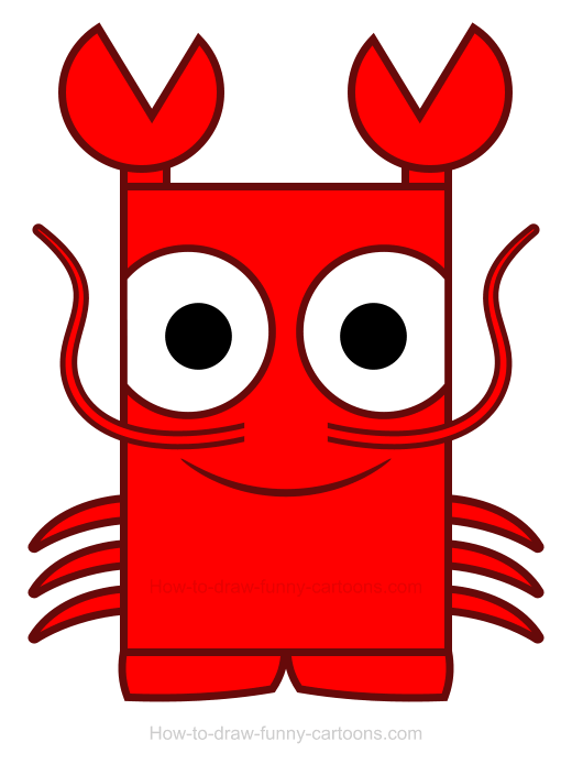How to Draw a Lobster Clipart