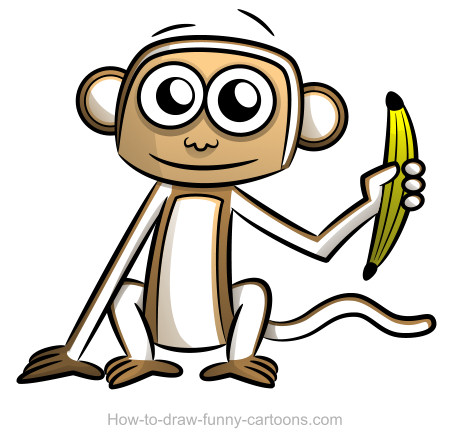 Monkey drawings (Sketching + vector)