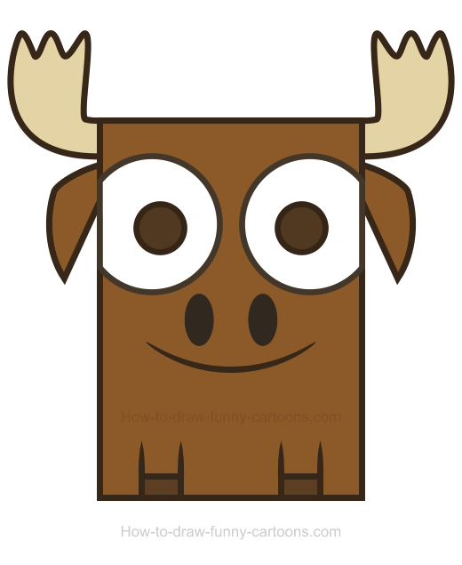 Moose clipart for How to draw a moos