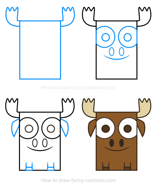 How to Draw a Moose Clipart